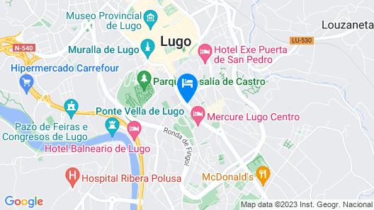 Eurostars Gran Hotel Lugo Map