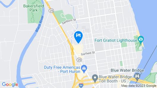 Port Huron Hotel Map