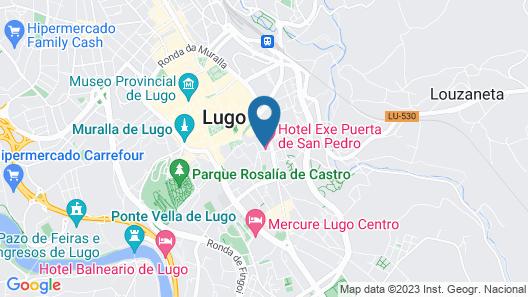 Hotel Exe Puerta de San Pedro Map