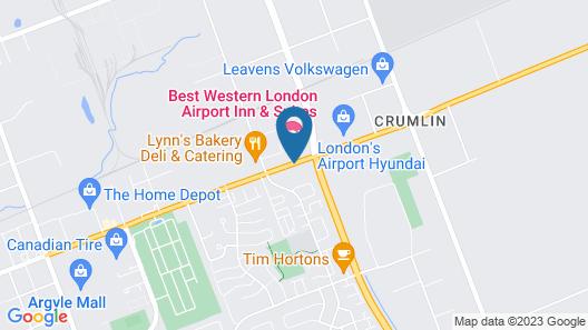 Best Western London Airport Inn & Suites Map