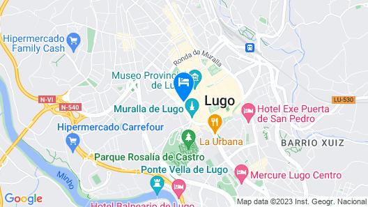 Hotel Monumento Pazo de Orbán Map