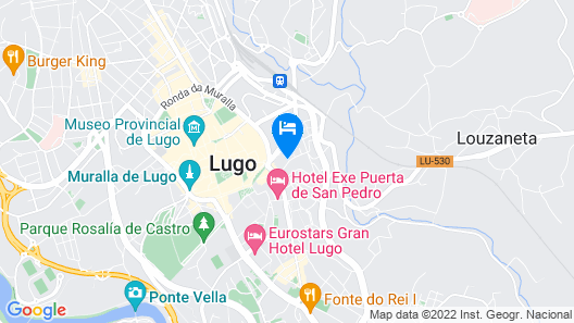 Cozy apartment next to Puerta de San Pedro (Roman Wall) Map