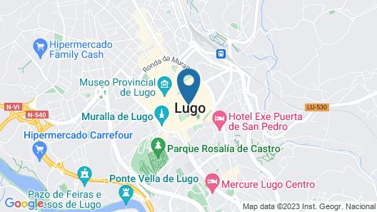 Méndez Núñez Hotel Map