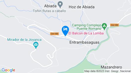 El Balcón De La Lomba Map