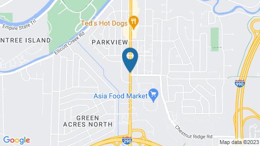 Blue Falls Motel Map
