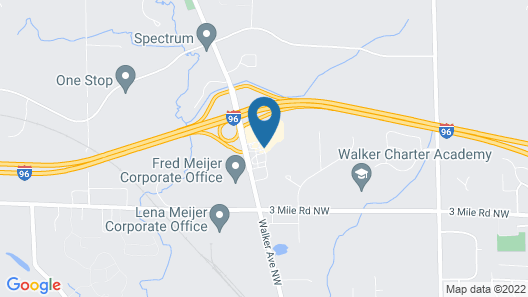 Quality Inn Grand Rapids North Map