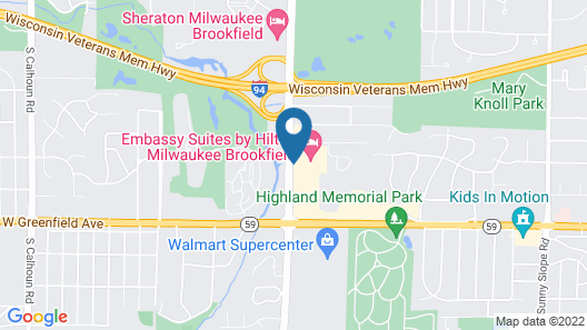 Embassy Suites by Hilton Milwaukee Brookfield Map