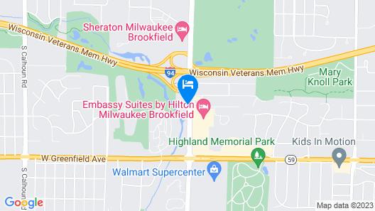 Brookfield Milwaukee Hotel Map
