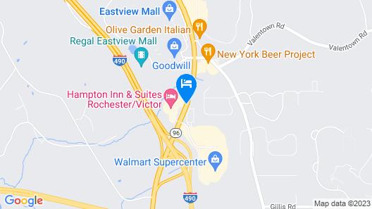 Hampton Inn & Suites Rochester-Victor/Fairport Map