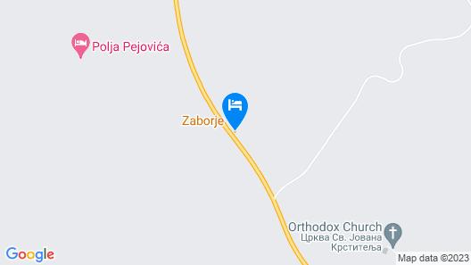 Motel Zaborje Map
