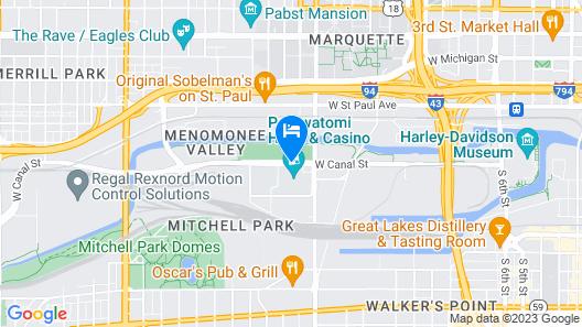 Potawatomi Hotel & Casino Map