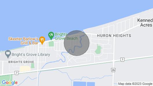 Beach Bum House: Fireplace, Patio, Min To Shore Map