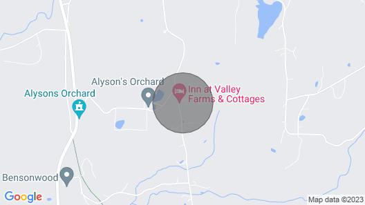 3 BR Farmhouse on Farm Near Vermont Map