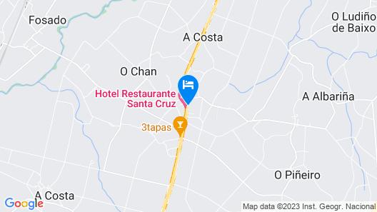 Santa Cruz Hotel Map