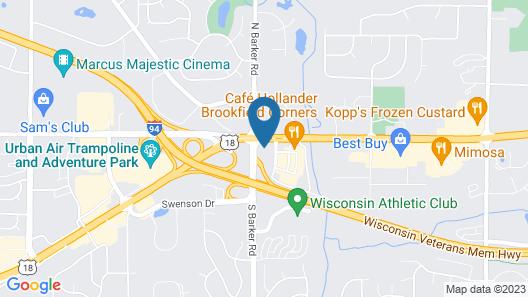 La Quinta Inn Milwaukee West Brookfield Map