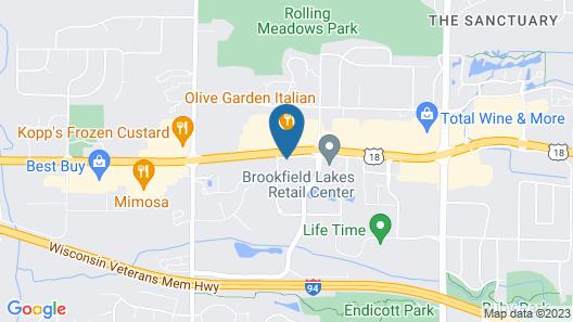 DoubleTree by Hilton Milwaukee - Brookfield Map