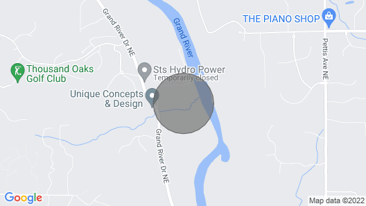 Grand River Getaway - Nature Paradise Near City Map