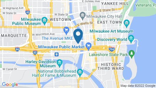 Cambria Hotel Milwaukee Downtown Map