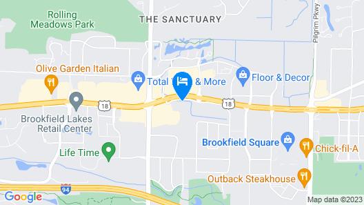 Sonesta Select Milwaukee Brookfield Map