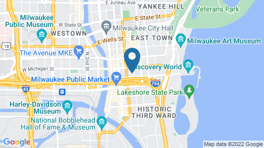 Tru By Hilton Milwaukee Downtown, WI Map