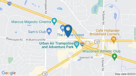 Extended Stay America Milwaukee - Waukesha Map