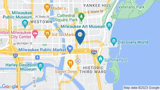 Holiday Inn Express Milwaukee Downtown, an IHG Hotel Map