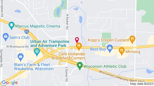 Quality Inn Milwaukee Area Map