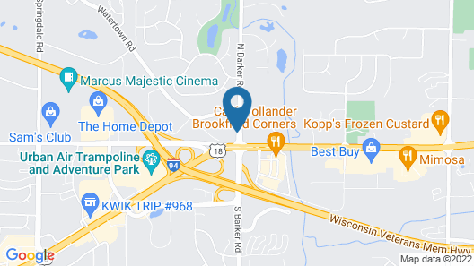 Hampton Inn Milwaukee/Brookfield Map