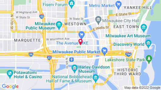 Courtyard by Marriott Milwaukee Downtown Map