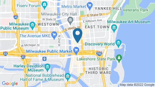 Hilton Garden Inn Milwaukee Downtown Map