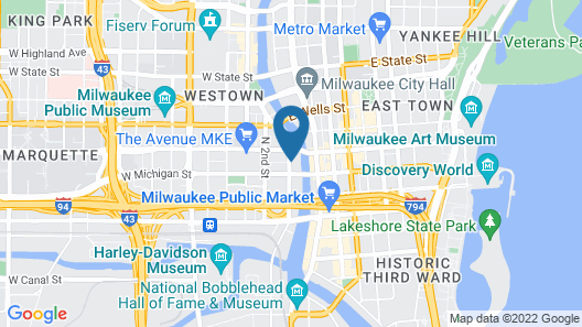 Residence Inn Milwaukee Downtown by Marriott Map