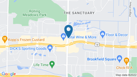 Towneplace Suites By Marriott Brookfield Map