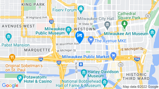Hilton Milwaukee City Center Map
