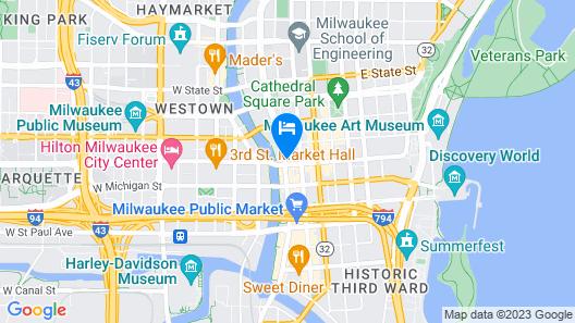 Drury Plaza Hotel Milwaukee Downtown Map