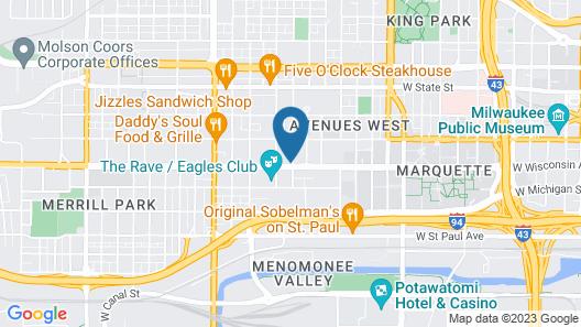 Ambassador Hotel - Milwaukee Map