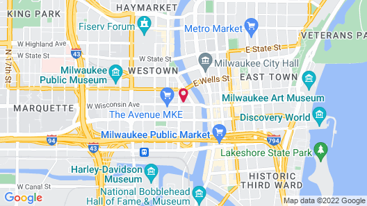 Hampton Inn & Suites Milwaukee Downtown Map