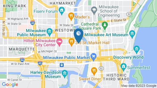 Hampton Inn & Suites Milwaukee Downtown Map