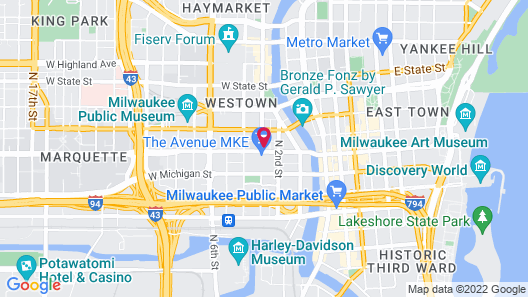 Fairfield Inn & Suites by Marriott Milwaukee Downtown Map