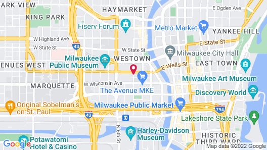 SpringHill Suites by Marriott Milwaukee Downtown Map