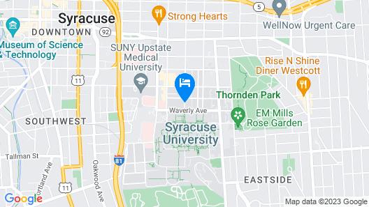Sheraton Syracuse University Hotel & Conference Center Map