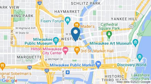 Hyatt Regency Milwaukee Map