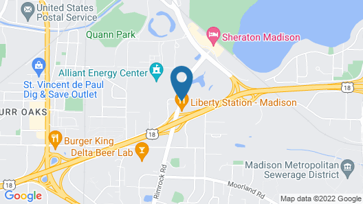 Home2 Suites by Hilton Madison Central Alliant Energy Center Map
