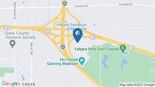 Magnuson Grand Hotel Madison Map