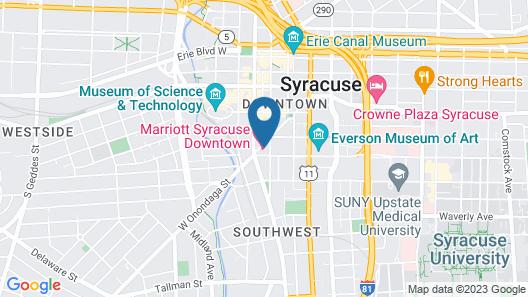 Marriott Syracuse Downtown Map