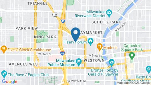 Hyatt Place Milwaukee/Downtown Map