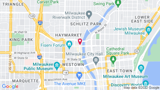 Aloft Milwaukee Downtown Map