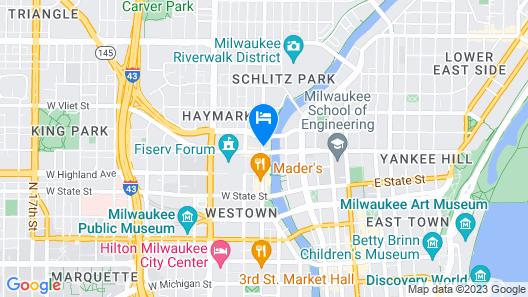 Aloft Milwaukee Downtown Map