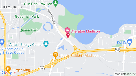 Comfort Inn Madison - Downtown Map