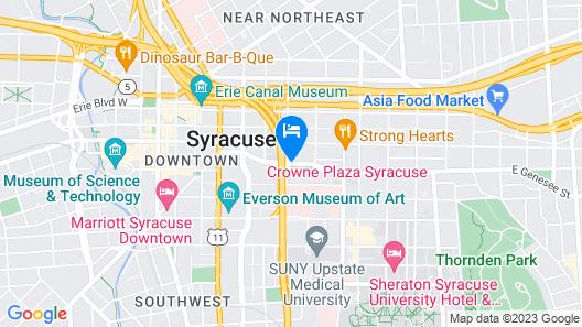 Crowne Plaza Syracuse, an IHG Hotel Map