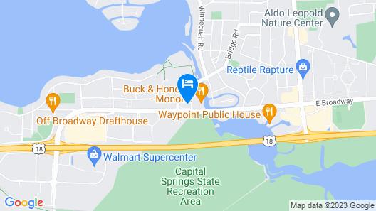 avid hotels Madison - Monona Map